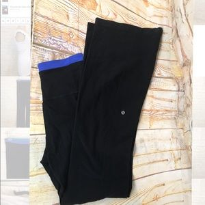 Lululemon high waist wide leg legging size below